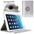 iPad Air Rotary Smart Läder Fodral - Crocodile - Silver