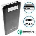 Green Cell PB93 Qualcomm QC 2.0 Powerbank - 20000mAh - Svart