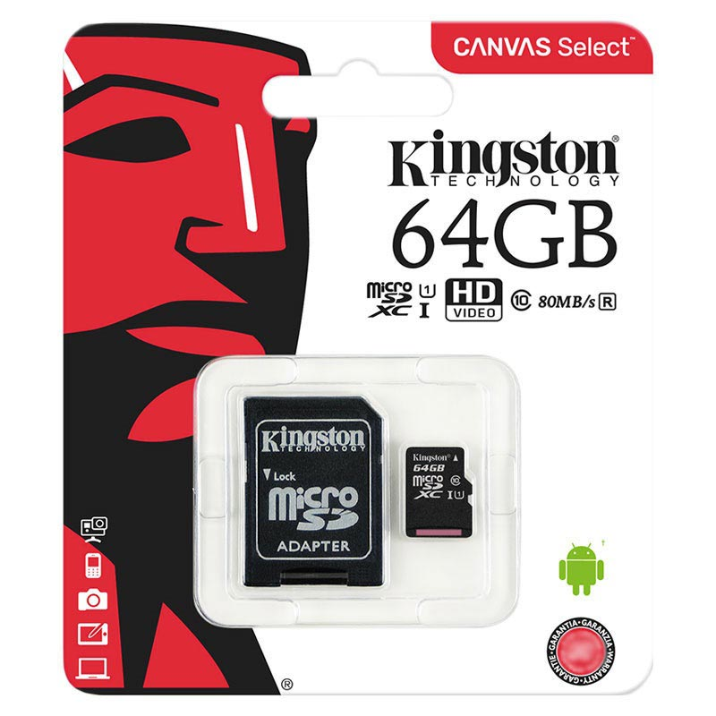 Kingston Canvas Select MicroSDXC Minneskort SDCS/64GB - 64GB