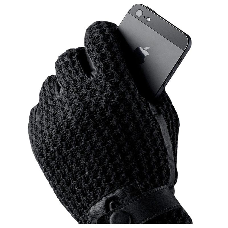 Mujjo Leather Crochet Touchscreen Vantar - M