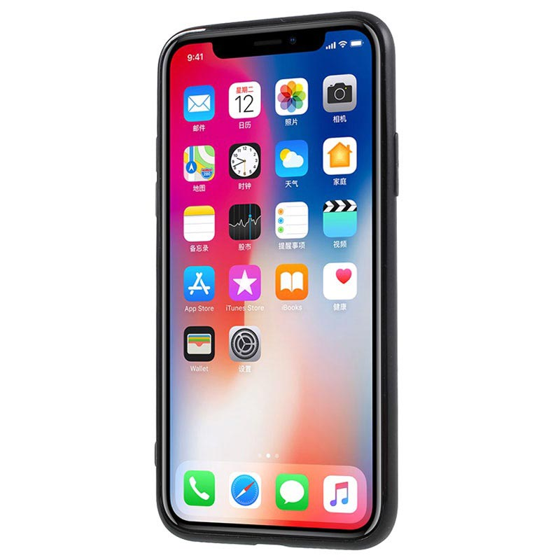 iPhone X / iPhone XS NXE Perfect Suit Skyddsset - Svart / Genomskinlig