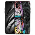 iPhone X / iPhone XS NXE Unique Series TPU-skal - Trollslända - Rosa