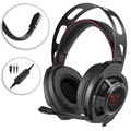 Onikuma M190 Mega Bass Gaming Headset med LED - Svart