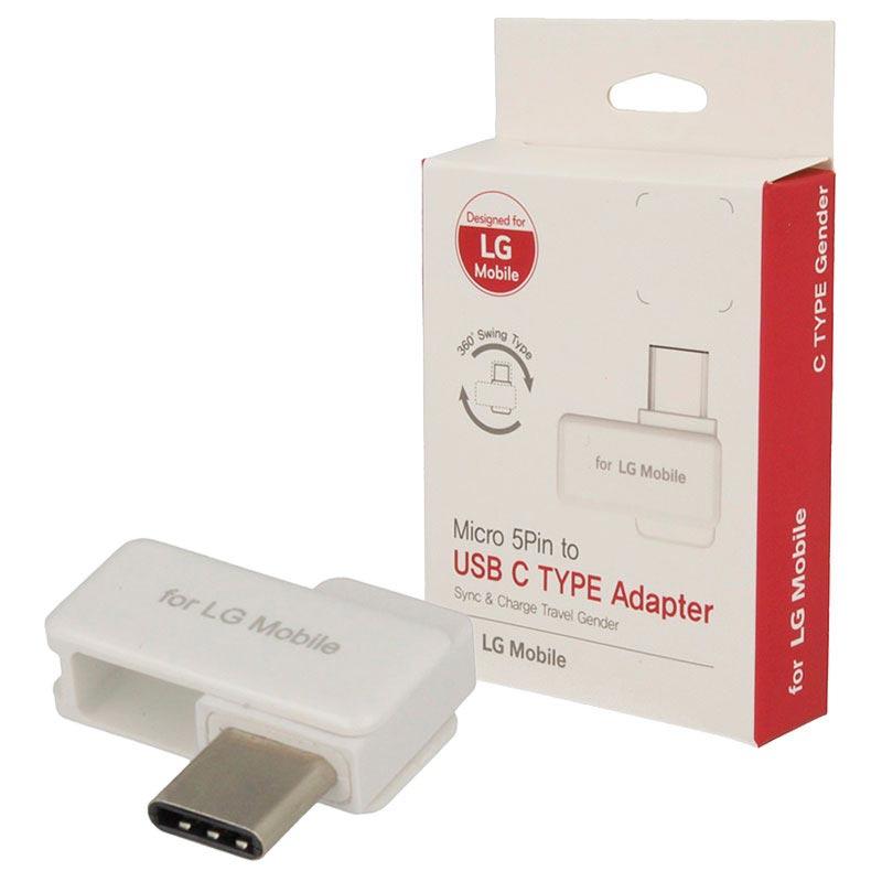 LG USB Type C MicroUSB Adapter TST G002_WH Vit