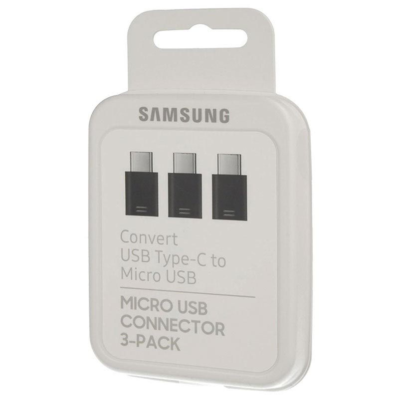 Samsung EE-GN930KB MicroUSB / USB Type-C Adapter - Svart - 3 Pack