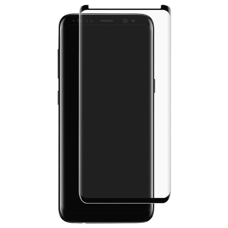 Berömda Samsung Galaxy S9 Panzer Premium Curved Glas Skärmskydd - Svart GX-97