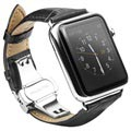 Apple Watch Series 5/4/3/2/1 Qialino Läderarmband - 42mm, 44mm - Svart