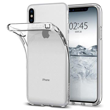 iPhone X   iPhone XS Spigen Liquid Crystal Skal - Genomskinlig 0567bc1dca878