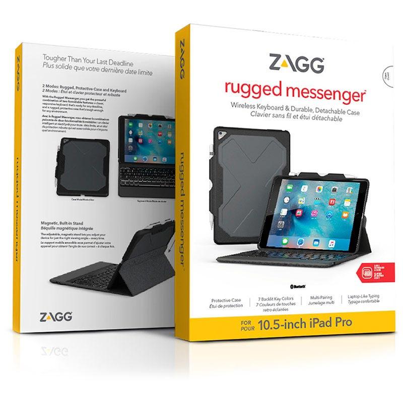iPad Pro 10.5 Zagg Rugged Book Fodral med Bluetooth-tangentbord - Svart c032da65d0043