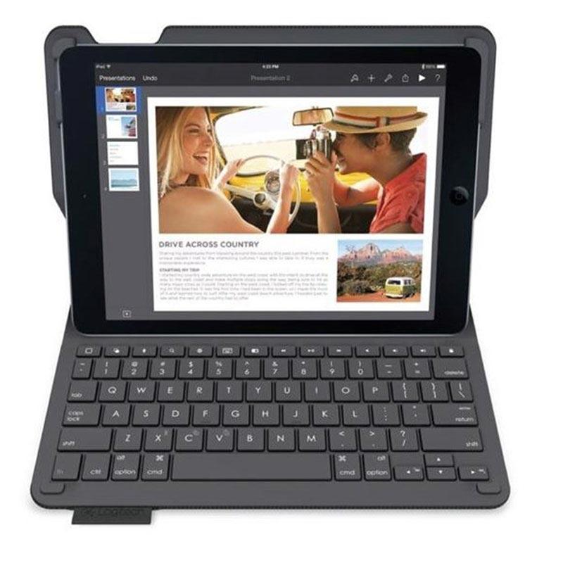 iPad Air 2 Logitech Type+ Bluetooth Tangentbord Väska - Carbon Svart -  Nordic Layout 7e79035de1d11