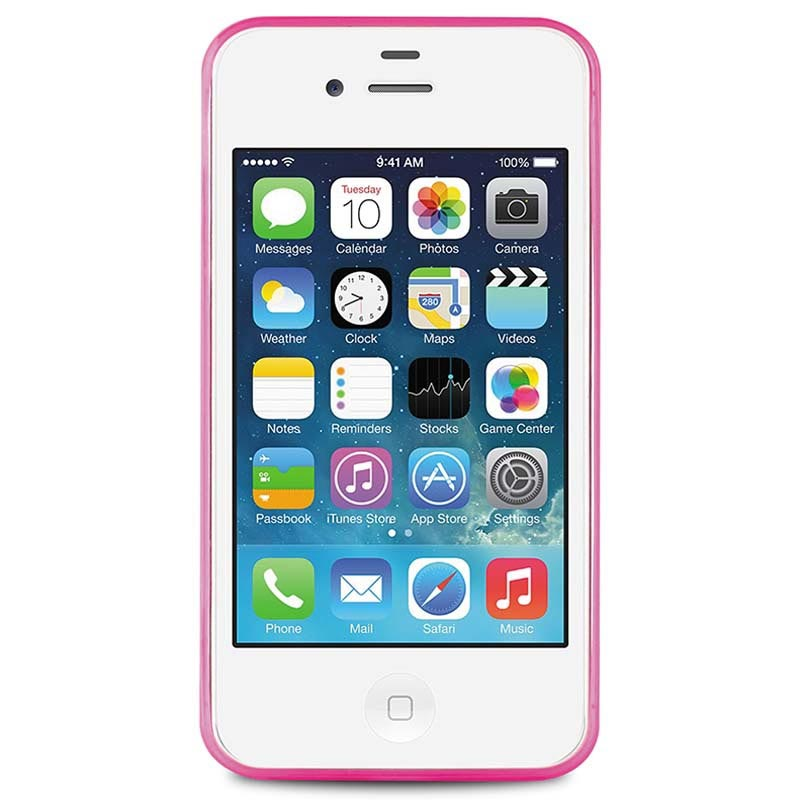 iPhone 4   4S Puro 0.3 Ultra Slim Silikon Skal - Rosa 8be1cc97cd901